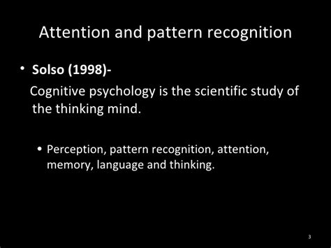pattern recognition theory psychology attention and pattern recognition 1