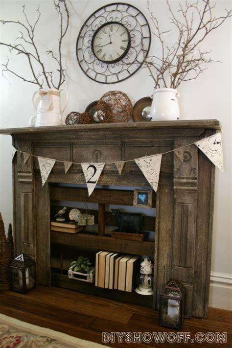 turn fireplace into bookshelf party junk 201 diy rustic shelving ideasfunky junk interiors