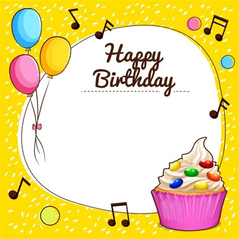 happy birthday to me design happy birthday sign with cupcake design illustration