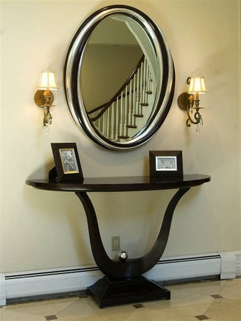 Entry Console Table With Mirror Sleek Entryway Http Www Hgtv Designers Portfolio Room Traditional Outdoors 6941 Index Html