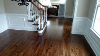 Philadelphia Kitchen Design red oak hardwood flooring with medium brown stain