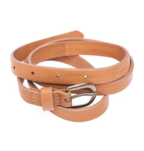 cheap light brown leather momoni leather belt with buckle light brown