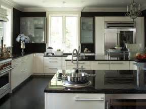 Kitchen Cabinets And Counters by Black White Kitchen Cabinets With Granite Countertops