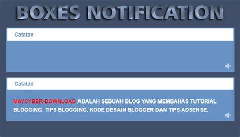 cara membuat link home pada blog catatan haydar ali cara membuat boxes notification atau kotak catatan di