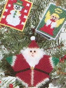 plastic canvas christmas ornaments santa and friends