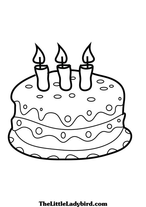 coloring page cake birthday cake coloring pages to and print for free