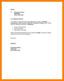 Letter For Request Bank Statement Copy 4 Bank Statement Letter Warehouse Clerk