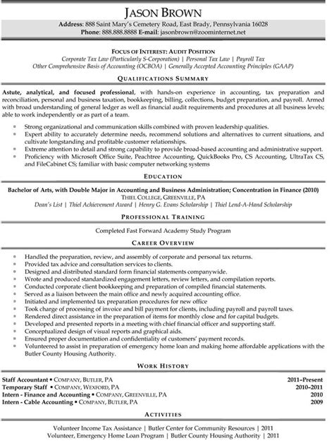 Staff Accountant Resume Exle by Auditing Resume Exles Resume Professional Writers