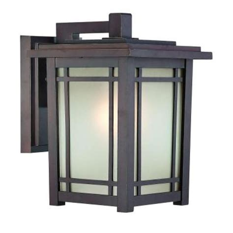 port oxford wall mount 1 light outdoor rubbed chestnut