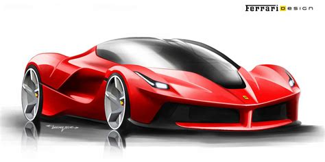 ferrari sketch the ferrari laferrari development sketches motocrit