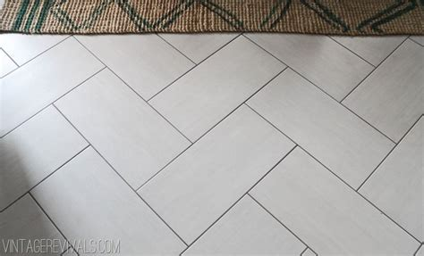12x24 tile herringbone pattern charcoal grout floor tile pinterest