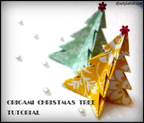 Origami Tree Decorations - tree decorations origami holliday decorations