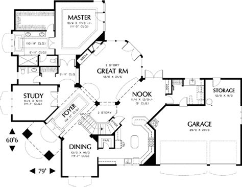 corner lot floor plans for the corner lot 69232am architectural