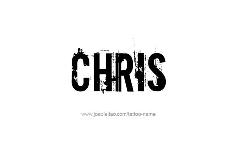 chris name tattoo designs chris name designs