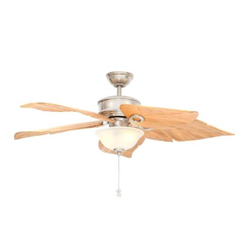 brushed nickel outdoor ceiling fan with light hton bay costa mesa 56 in indoor outdoor brushed