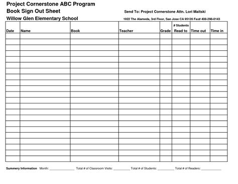 book sign out sheet template best photos of sign out sheet template printable tool