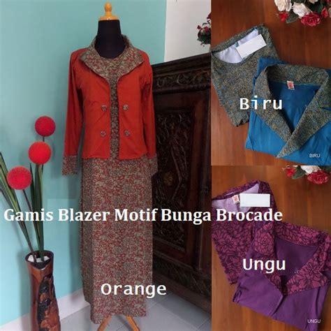 Gamis Blazer Motif gamis blazer motif bunga brocade gamis cantik buat ke