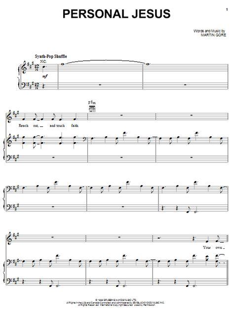 tutorial piano depeche mode personal jesus sheet music direct