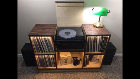 Record Player Cabinet Walnut Birch Diy Build
