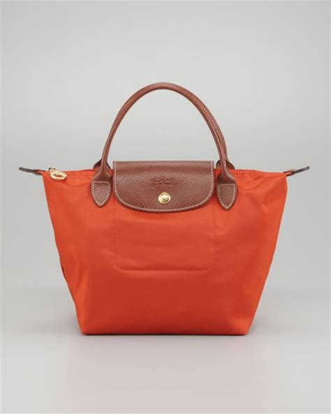 Longch Neo Small 1 longch orange le pliage weekender folding tote in