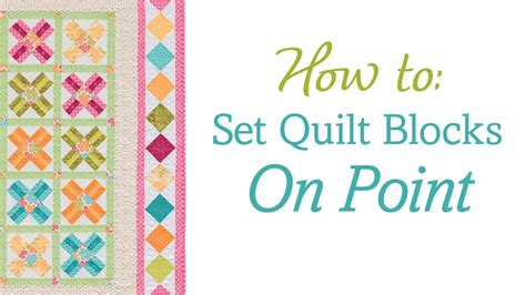 is on point how to set quilt blocks on point no templates no math