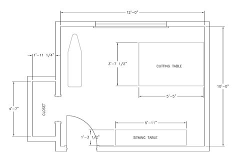 blueprint of a room my sewing space the sequel custom style