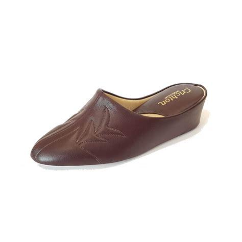 wine slippers 7352 wine leather slipper