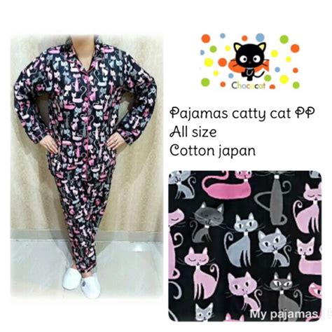 Pajamas Black Cat Pp by Pp Catty Cat Black Pink Pajamas Harga Grosir Piyama Katun