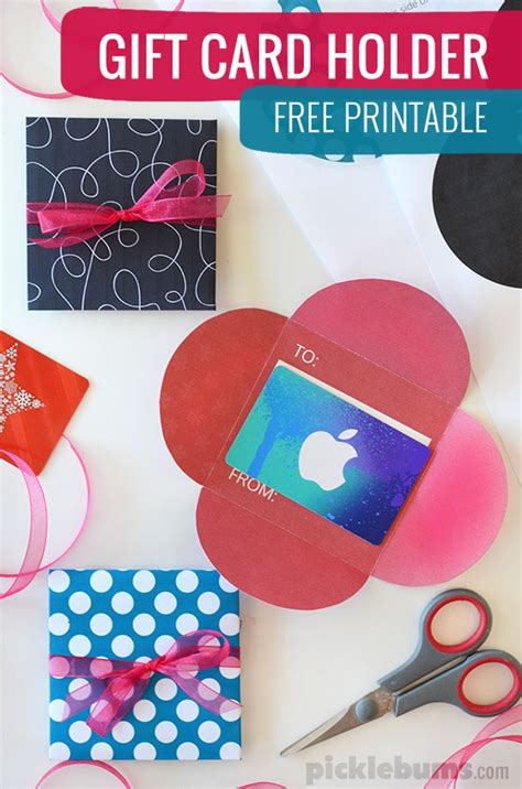 Make A Gift Card Holder - free printable gift card holders picklebums