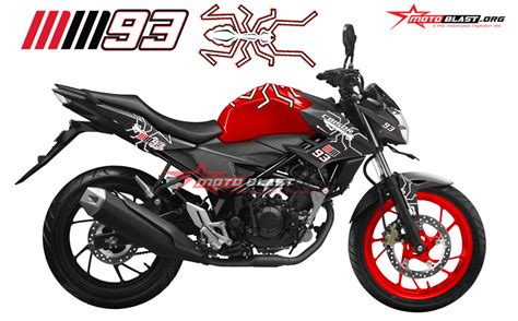 Marquez Semut Black modifikasi new cb150r mm 93 motoblast