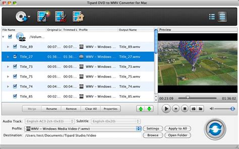 dvd format converter mac tipard dvd to wmv converter for mac mac dvd to wmv