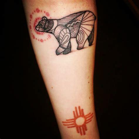 geometric bear tattoo geometric bear arm tattoo tattoomagz