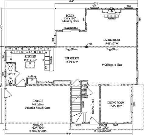 fairbury by wardcraft homes two story floorplan