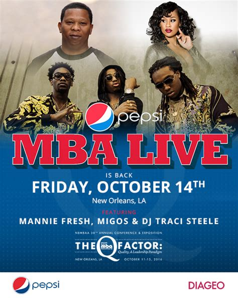 Nola Mba by Pepsi Mba Live Returns Nola Style With Mannie Fresh And