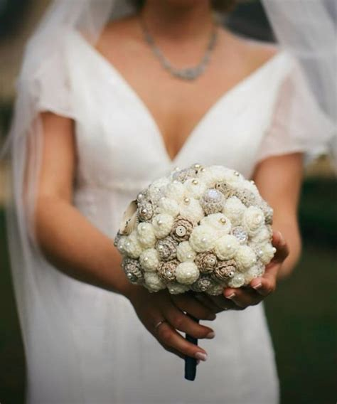 Wedding Bouquet Vintage Brooches by Crochet Wedding Vintage Brooches And Wedding Bouquets On