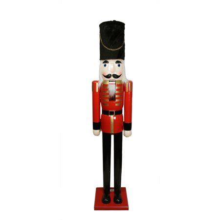 large nutcracker soldier 6 commercial size and black wooden nutcracker soldier walmart