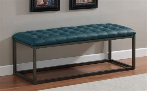 contemporary bedroom bench healy teal leather tufted bench contemporary