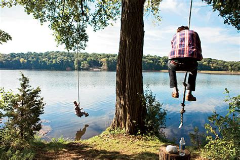 lake rope swing midwest lake vacation spots wandawega lake resort