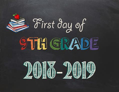 Free Printable Day Of School Signs 2018 2019