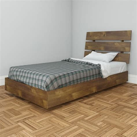 truffle bed nexera nocce modern platform twin bed in truffle 401239
