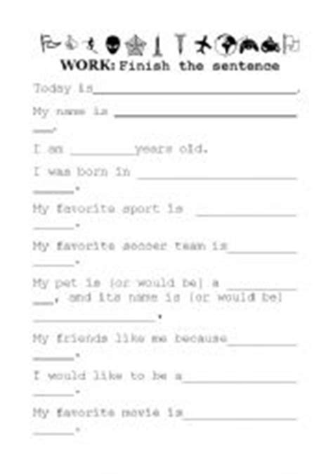 printable questionnaire about yourself english teaching worksheets questions