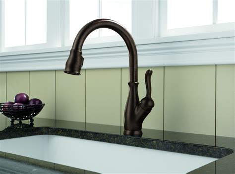 delta leland pull kitchen faucet delta 9178 rb dst leland single handle pull kitchen faucet venetian bronze faucetdepot