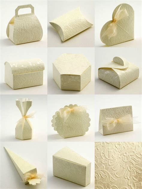 diy wedding favour boxes uk best quality diy ivory lace macrame embossed wedding