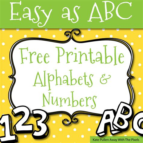 Free Printable Alphabet Numbers | free printable letters and numbers for crafts