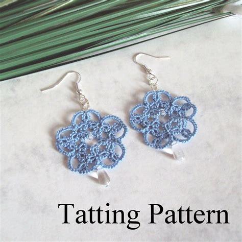 etsy tatting pattern pdf tatting pattern isabella earrings beginner