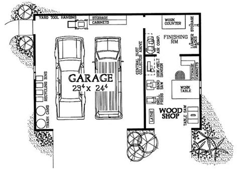 Woodshop Garage Combo Hwbdo08032 House Plan From | woodshop garage combo hwbdo08032 house plan from