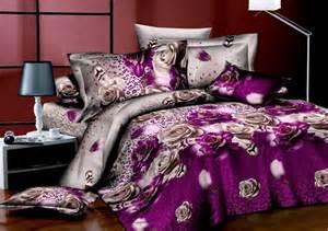 Amy Butler Bedding Purple Roses Bedding 3d Duvet Cover Set 3d Bedding