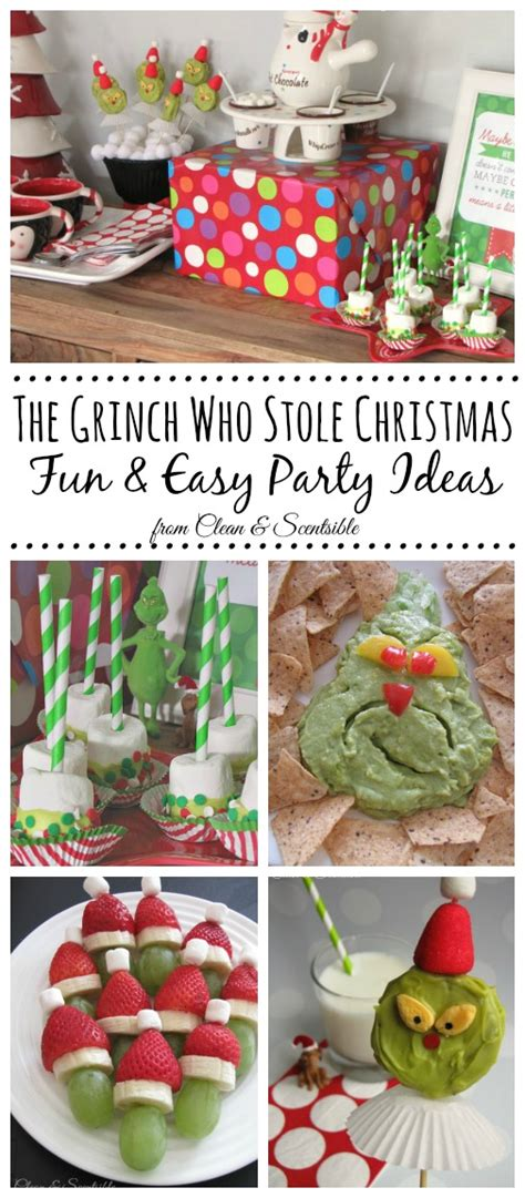 christmas party food ideas for adults grinch clean and scentsible