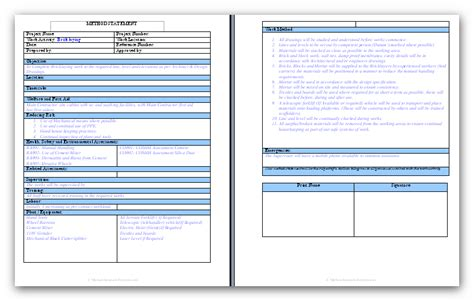 work methodology template general brick and block work method statement