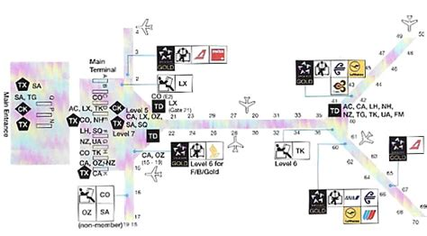 hong kong international airport floor plan united red carpet lounge business class airport